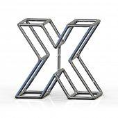pic of letter x  - 3D alphabet - JPG