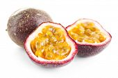 pic of passion fruit  - Passion fruit isolated on white - JPG
