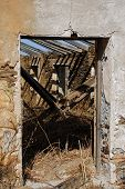 picture of derelict  - Doorway to a derelict finca Macharaviaya Malaga Province Andalucia Spain Western Europe - JPG