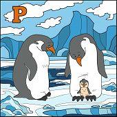 stock photo of letter p  - Color alphabet for children - JPG