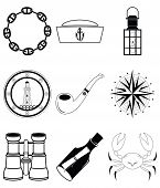 foto of wind-rose  - Nautical elements IV including crab - JPG