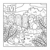 picture of letter m  - Coloring book  - JPG