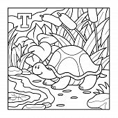 foto of letter t  - Coloring book  - JPG