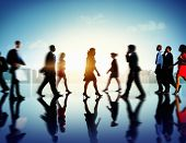 stock photo of commutator  - Business People Commuter Corporate Cityscape Pedestrian Concept - JPG