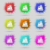 stock photo of cash register  - Cash register icon sign - JPG