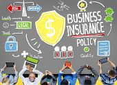 foto of insurance-policy  - Business Insurance Policy Guard Safety Security Concept - JPG