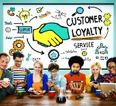 image of loyalty  - Customer Loyalty Satisfaction Support Strategy Service Concept - JPG