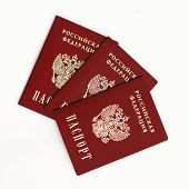 pic of passport cover  - an image of Russian passport on a white background - JPG