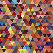 image of color geometric shape  - Colorful Triangle Abstract Background - JPG