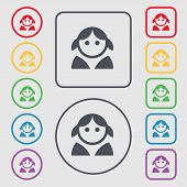 picture of female toilet  - Female Woman human Women toilet User Login icon sign - JPG