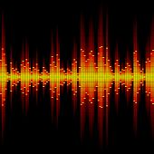 stock photo of waveform  - Seamless vector illustration of a sound waveform - JPG