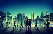 stock photo of commutator  - Commuter Business City Cityscape Corporate Colleagues Concept - JPG