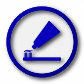 pic of bristle brush  - Tooth paste and brush icon - JPG