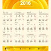 foto of monday  - Calendar 2016 Vector Design Template - JPG
