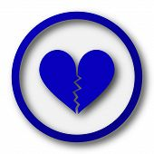 foto of heartbreaking  - Broken heart icon - JPG