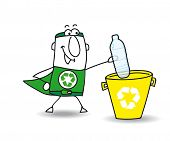 pic of plastic bottle  - Recycling a plastic bottle with Joe - JPG