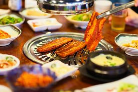 image of kimchi  - Kimchi Korean cuisine barbecue grill meat and vegetables - JPG