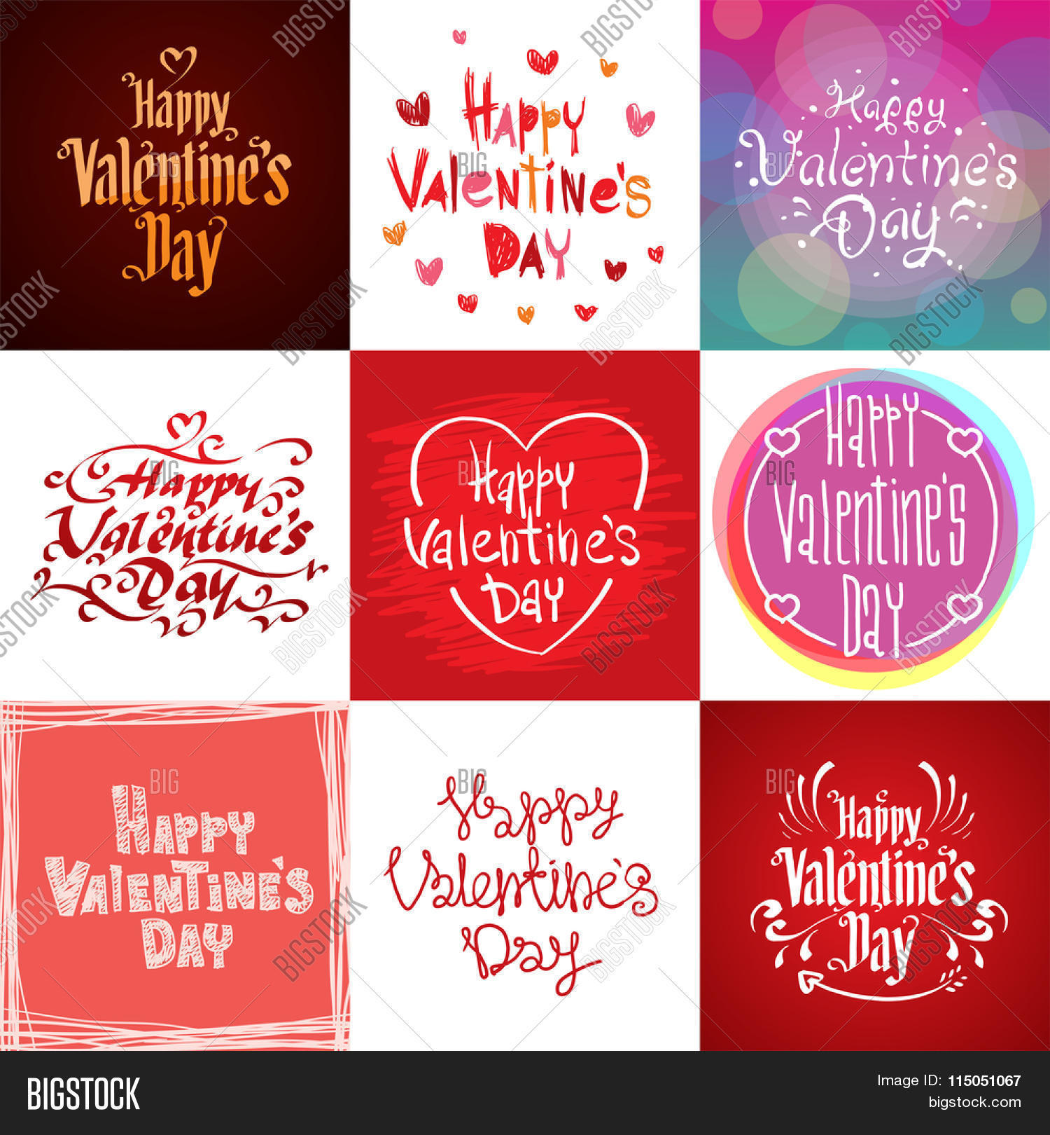 Happy Valentines Day greeting cards vector illustration Valentine – How to Design Valentine Card