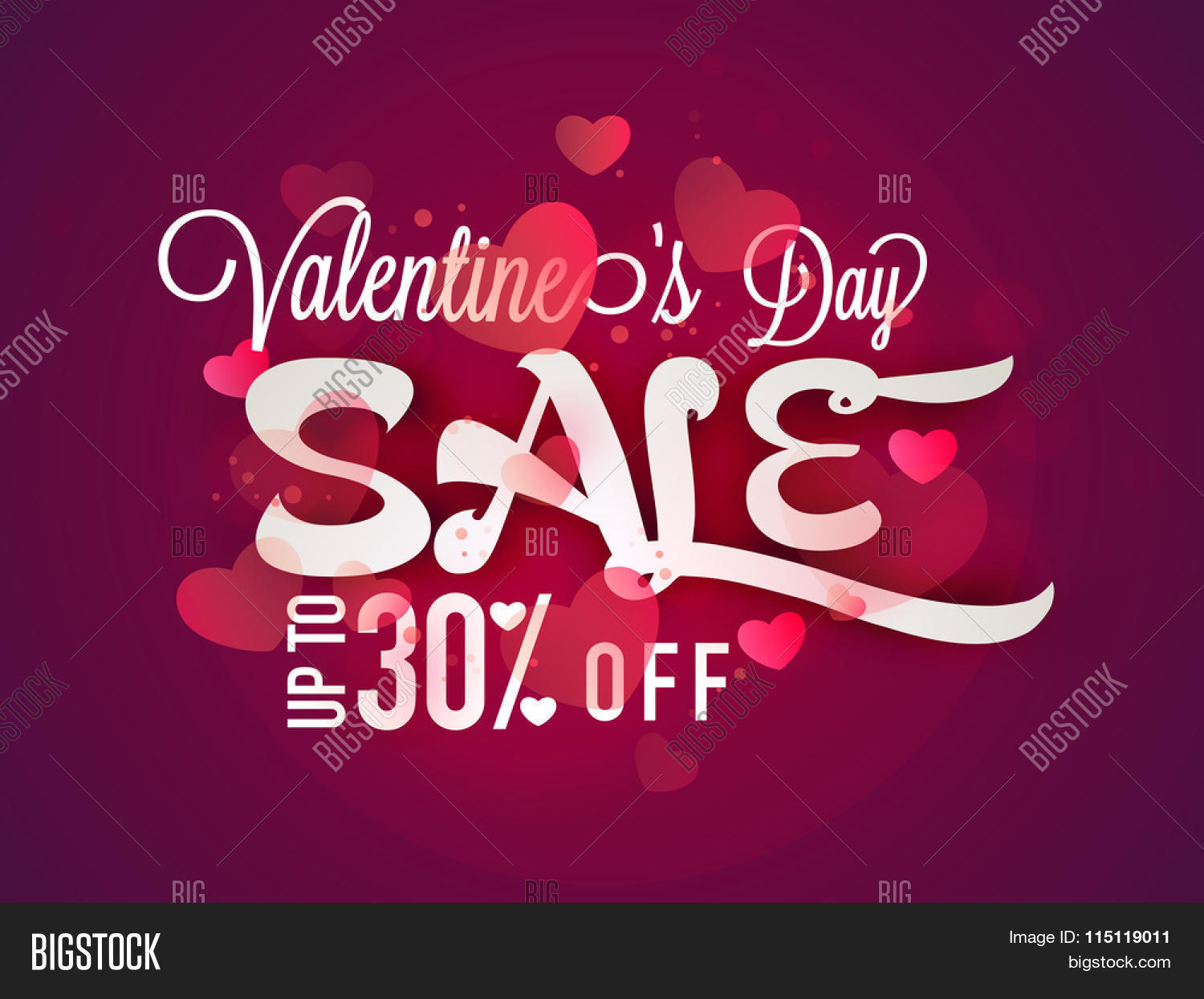 glossy pink hearts decorated poster banner or flyer design of glossy pink hearts decorated poster banner or flyer design of 30% discount