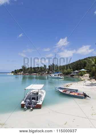 Boats And Yachts In The Port