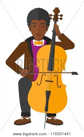 Man playing cello.