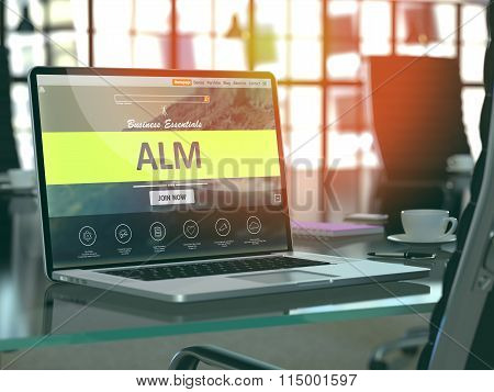 ALM Concept on Laptop Screen.