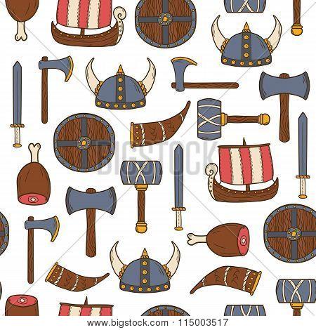 Seamless viking background