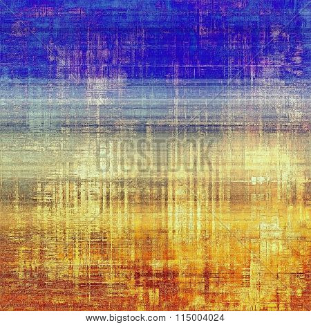 Old, grunge background texture. With different color patterns: yellow (beige); brown; blue; red (orange); cyan