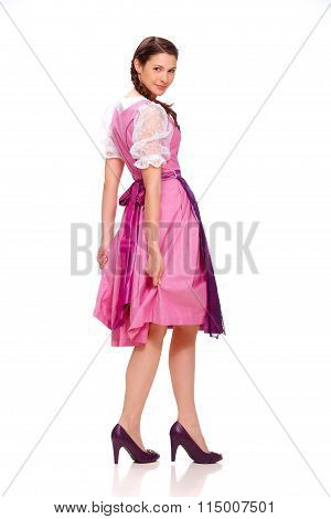 Young Woman With Dirndl Dress 3
