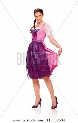 Young Woman With Dirndl Dress 5