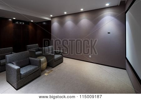 design and furniture in modern home theatre