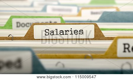 Salaries on Business Folder in Catalog.