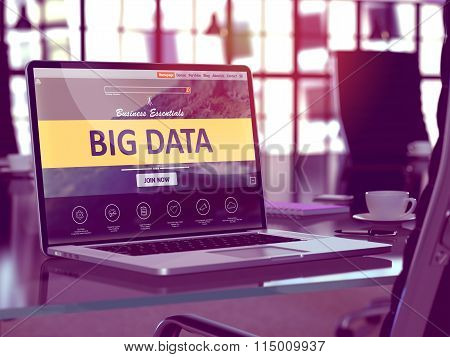 Big Data Concept on Laptop Screen.