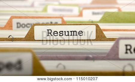 Folder in Catalog Marked as Resume.