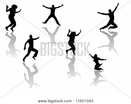 funny jumping people