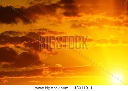 Heavenly Landscape In Golden Tones