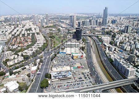 View From The Heights Of Tel Aviv And  Ramat Gan