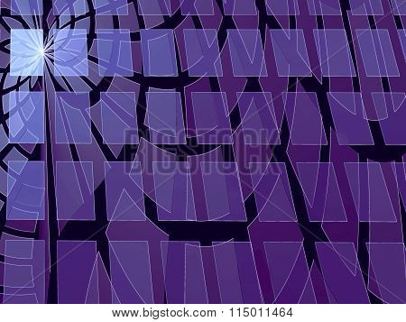 Abstract Modern Digitally Generated Violet And Blue Background