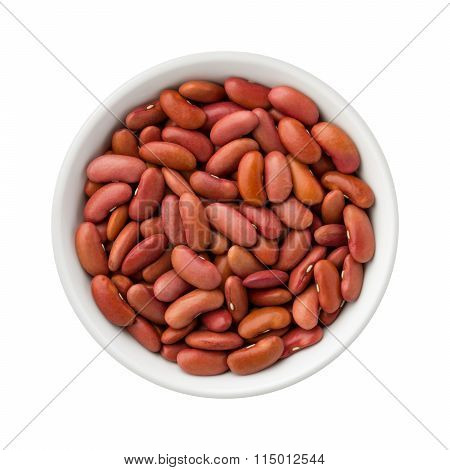 Red Kidney Beans In A Ceramic Bowl
