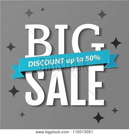 Big Sale Inscription. Big Sale Banner. Vector Illustration