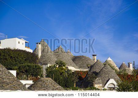 The roofs of trulli. Alberobello