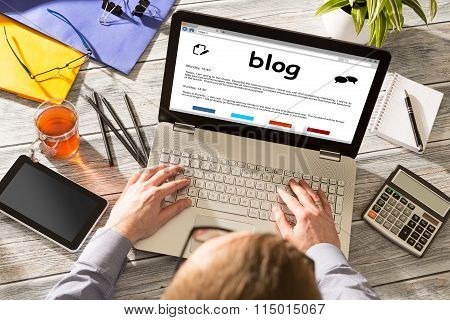 Blog Weblog Media Digital Dictionary Online Concept