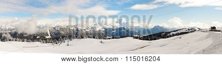 Winter Mountain Landscape In The French Alps