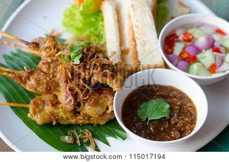 Pork Satay With Peanut Sauce