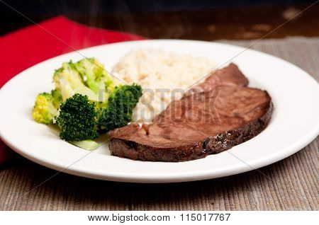 Fresh Roast Beef With Risotto