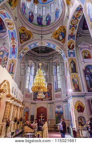 Baptism Interior Saint George Cathedral Vydubytsky Monastery Kiev Ukraine