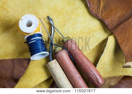 Leather sewing tools