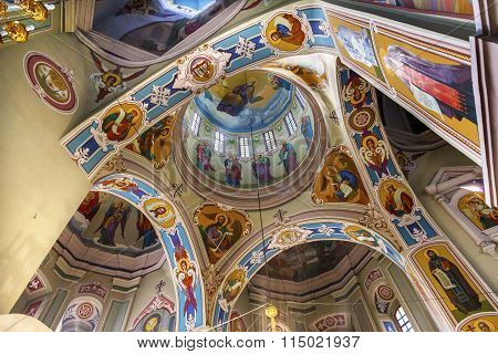 Interior Dome Saint George Cathedral Vydubytsky Monastery Kiev Ukraine