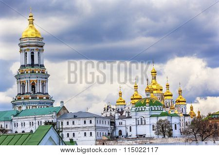 Great Bell Tower Uspenskiy Cathedral Holy Assumption Pechrsk Lavra Cathedral Kiev Ukraine