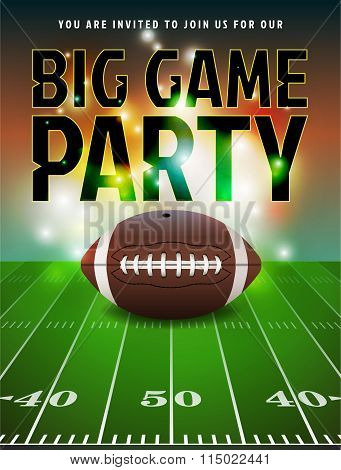 American Football Party Invitation
